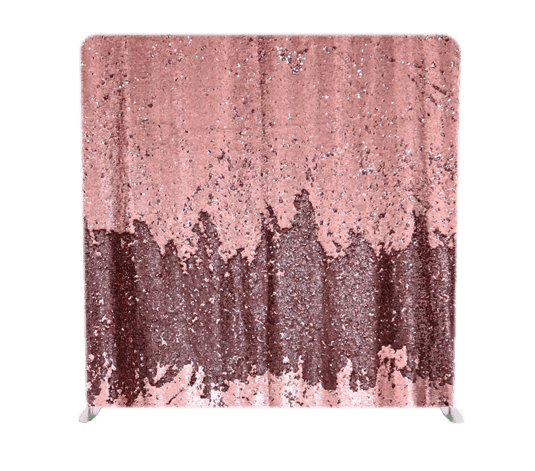 custom backdrop in light photo booth