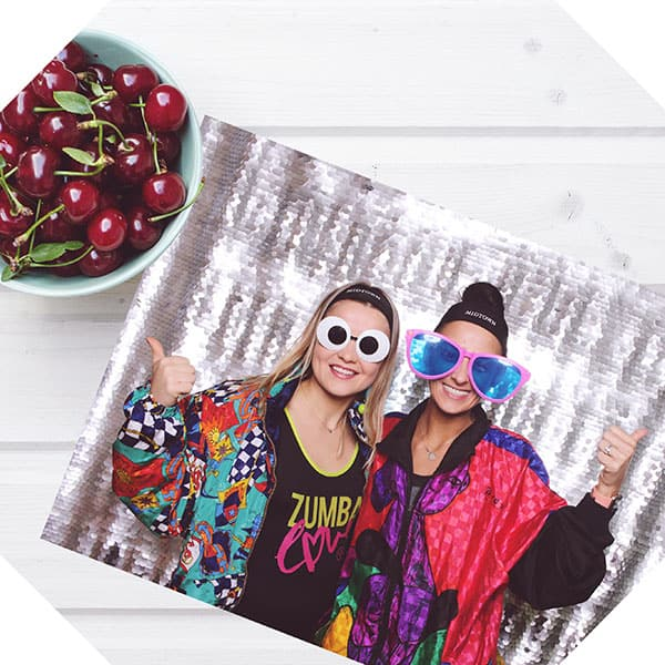 Fun photo booth glasses at a Chicago Party that had a photo booth