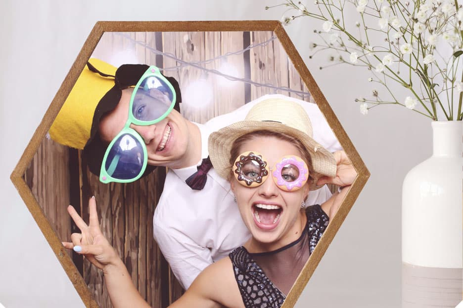 A wedding Photo Booth will bring a lot of fun for you - the bride and groom, and for your guests