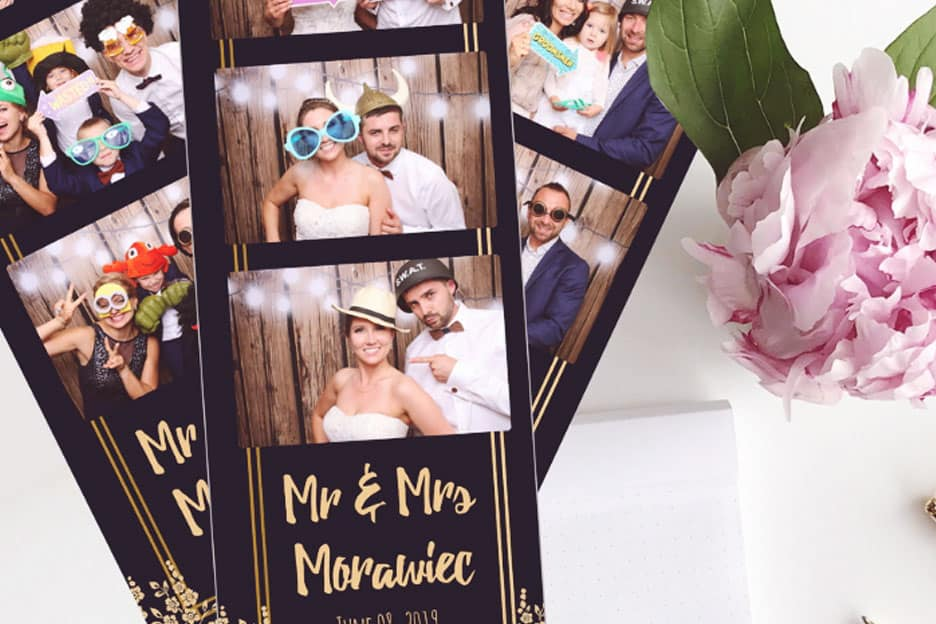 Photo Booth Strips at a Wedding in Chicago