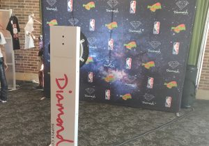 brand activations for Diamond Supply Co at Navy Pier Chicago for NBA All Star Weekend